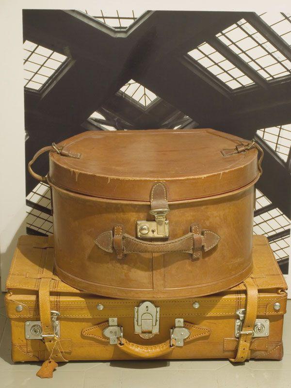 valigia cappelliera in pelle rossi pelletterie